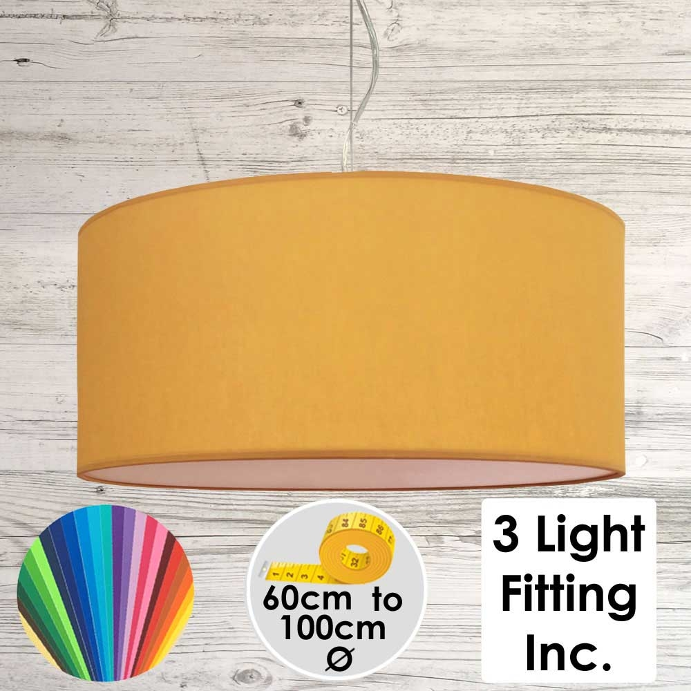 Gold Drum Ceiling Light